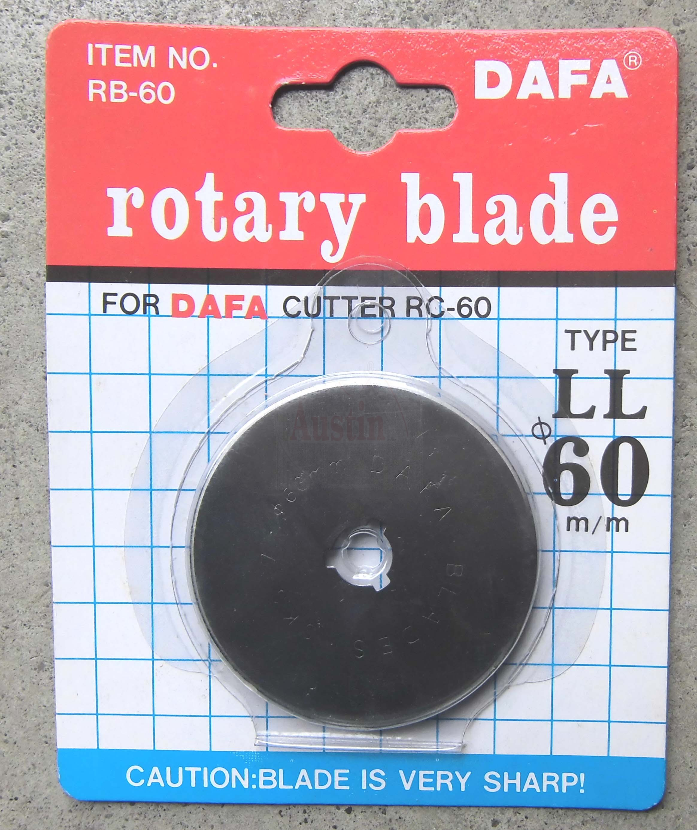 Rotary Cutter 60mm Replacement Blade to fit DAFA, OLFA, FISKARS