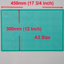 A3 Cutting Mat Self Healing 300mm x 450mm Green (12 inch x 17.5 inch)