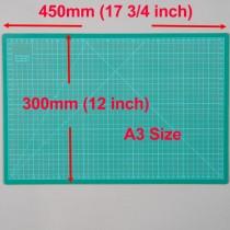 A3 Cutting Mat Self Healing 300mm x 450mm Green (12 inch x 17.5 inch)
