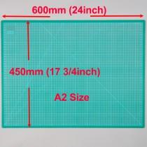 A2 Cutting Mat Self Healing 450mm x 600mm Green (17.5 inch x 24 inch)