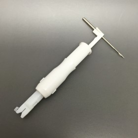 Needle threading tool for sewing machines