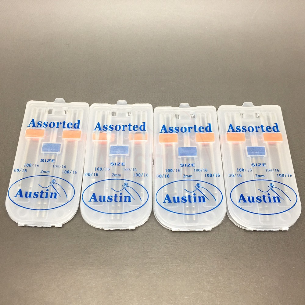 4 Packs Universal Domestic Sewing Machine Needles Pack 100/16 (4 x 100/16 and 1 x 2mm Twin Needle)