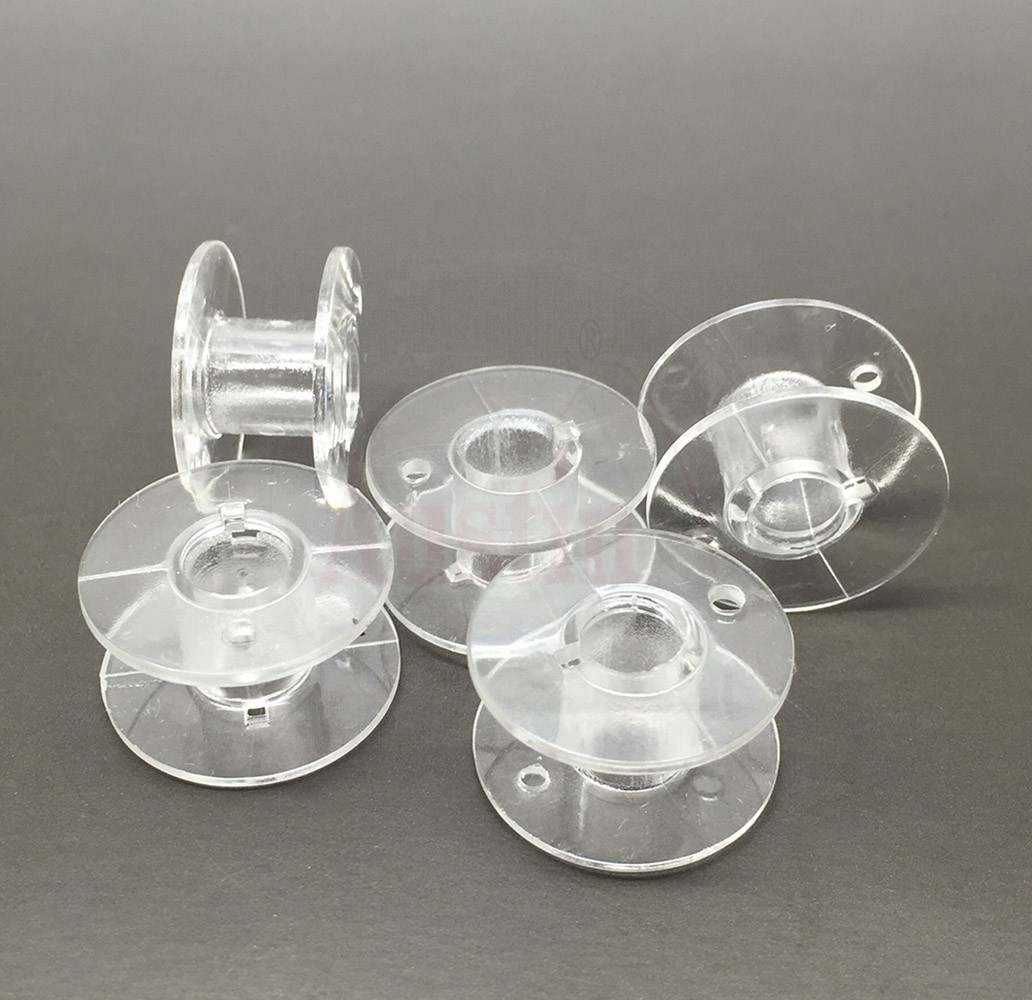 10 x Plastic Bobbin 2.2cm X 1.1cm