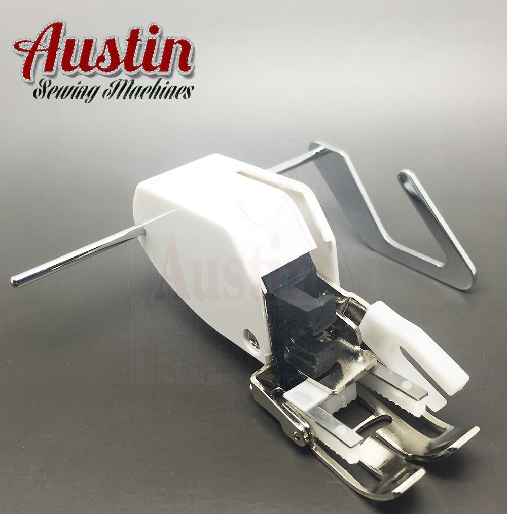 Sewing Machine Screw-on Even Feed Walking Foot with Quilt Guide for Austin, Brother Singer Janome Toyota and More