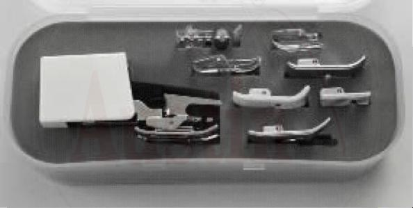 8 Piece Presser Foot Kit incl. Walking Foot