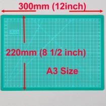 A4 Cutting Mat Self Healing 220mm x 300mm Green (8.5 inch x 12 inch)
