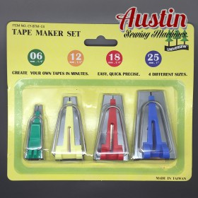 Bias Tape Makers Complete Set 4 Piece