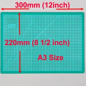 A4 Cutting Mat Self Healing 220mm x 300mm Green (8.5 inch x 12 inch)